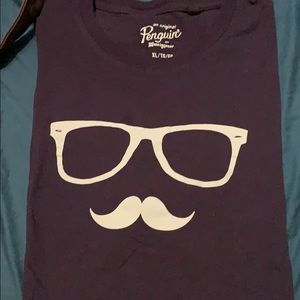 Penguin graphic hipster navy tee
